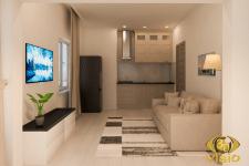 3D-визуализация гостинной в Греции, заказать в Кие